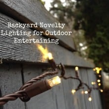 Backyard Novelty Lighting for Outdoor Entertaining