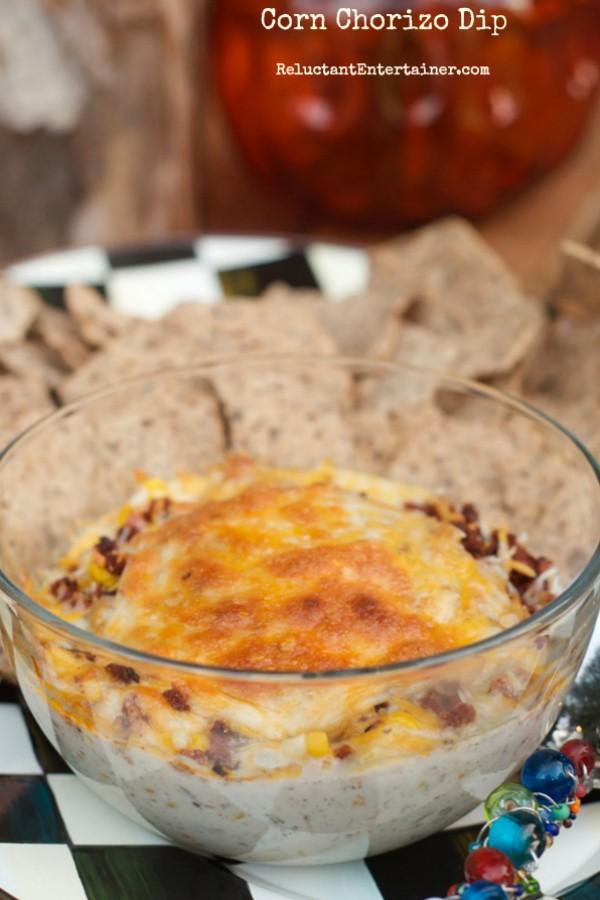 Corn Chorizo Dip | ReluctantEntertainer.com