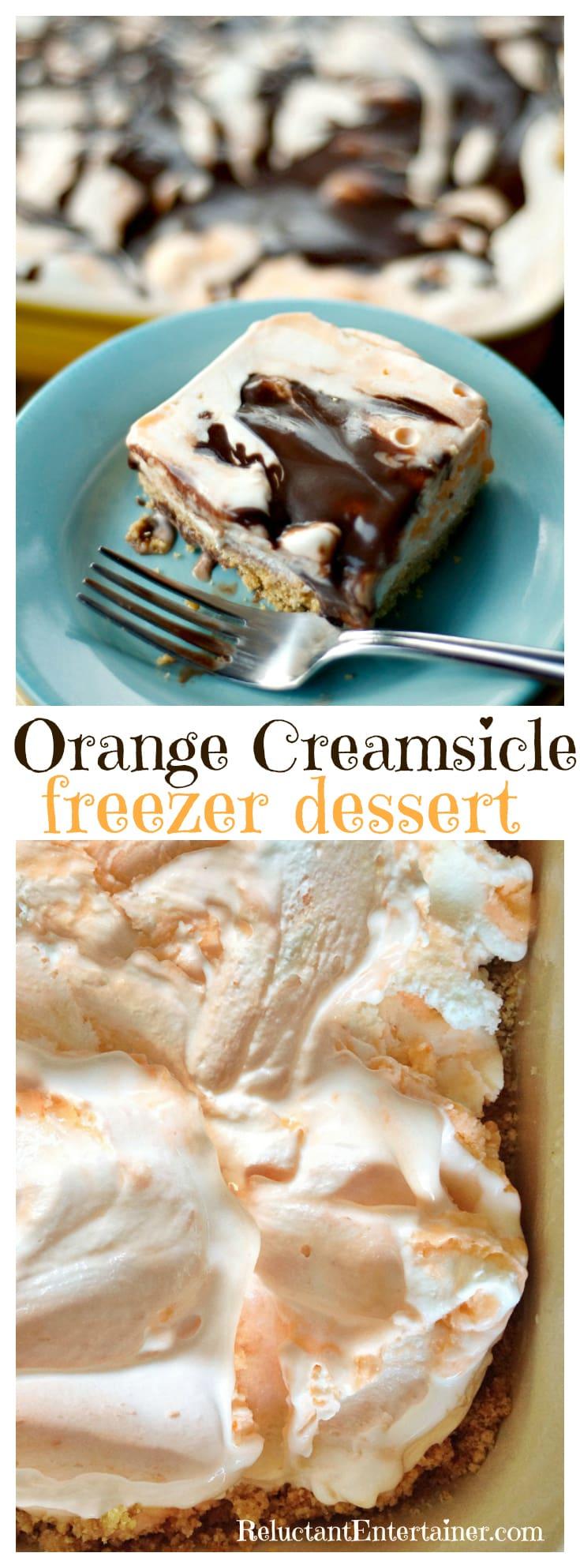 Orange Creamsicle Freezer Dessert Recipe