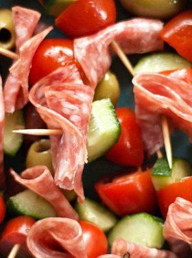 Gobble Up Olive Kebabs for Easy Appetizer