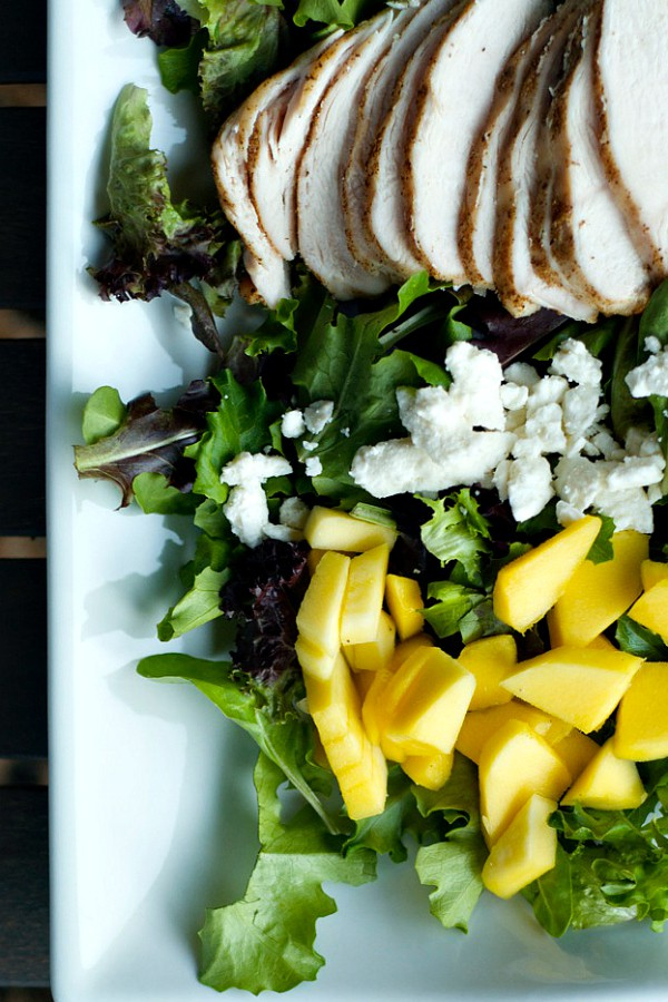 Chicken Mango Bacon Salad | ReluctantEntertainer@gmail.com