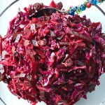 Red Cabbage Beet Slaw with Cranberries | reluctantentertainer.com