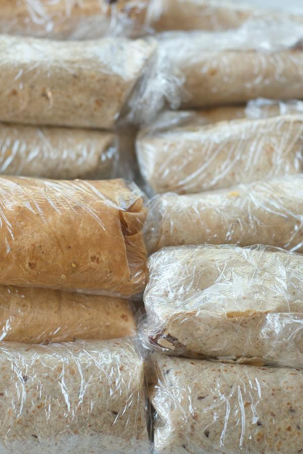 Freezer Burrito Recipe with Chicken and Quinoa