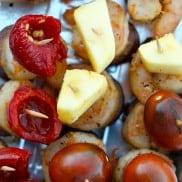Shrimp Sausage Kebabs