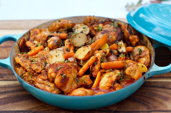 One-Pot Paprika Chicken Thighs