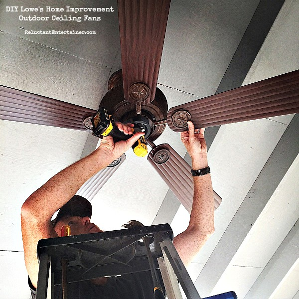 DIY Loweu0027s Home Improvement: Outdoor Ceiling Fans