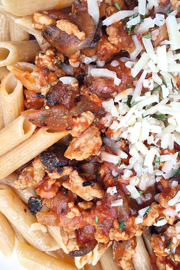 Bacon Mushroom Ragu Pasta