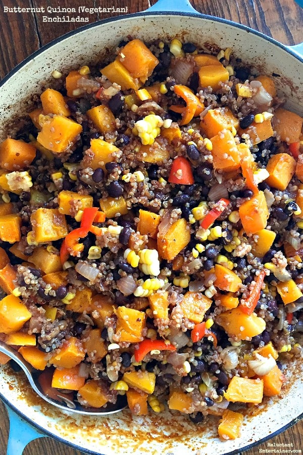 Butternut Quinoa {Vegetarian} Enchiladas | Reluctant Entertainer.com