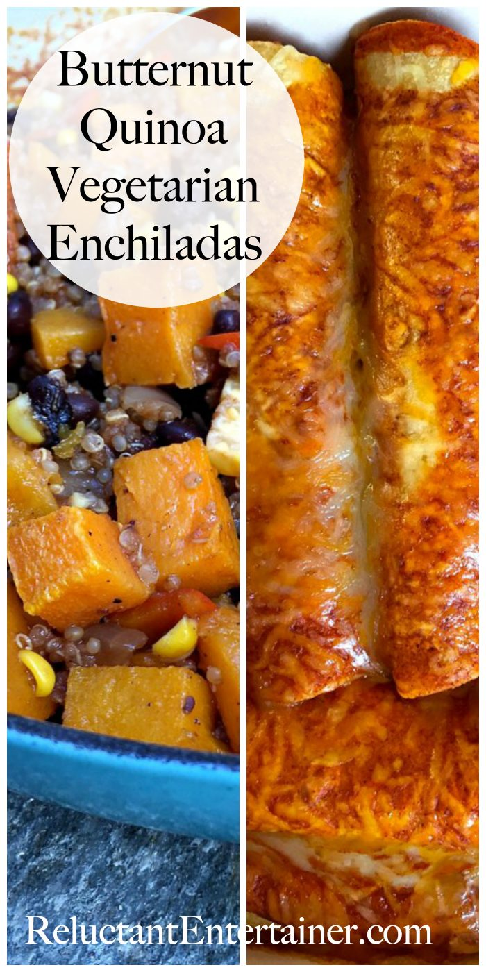 Butternut Quinoa Vegetarian Enchiladas Recipe