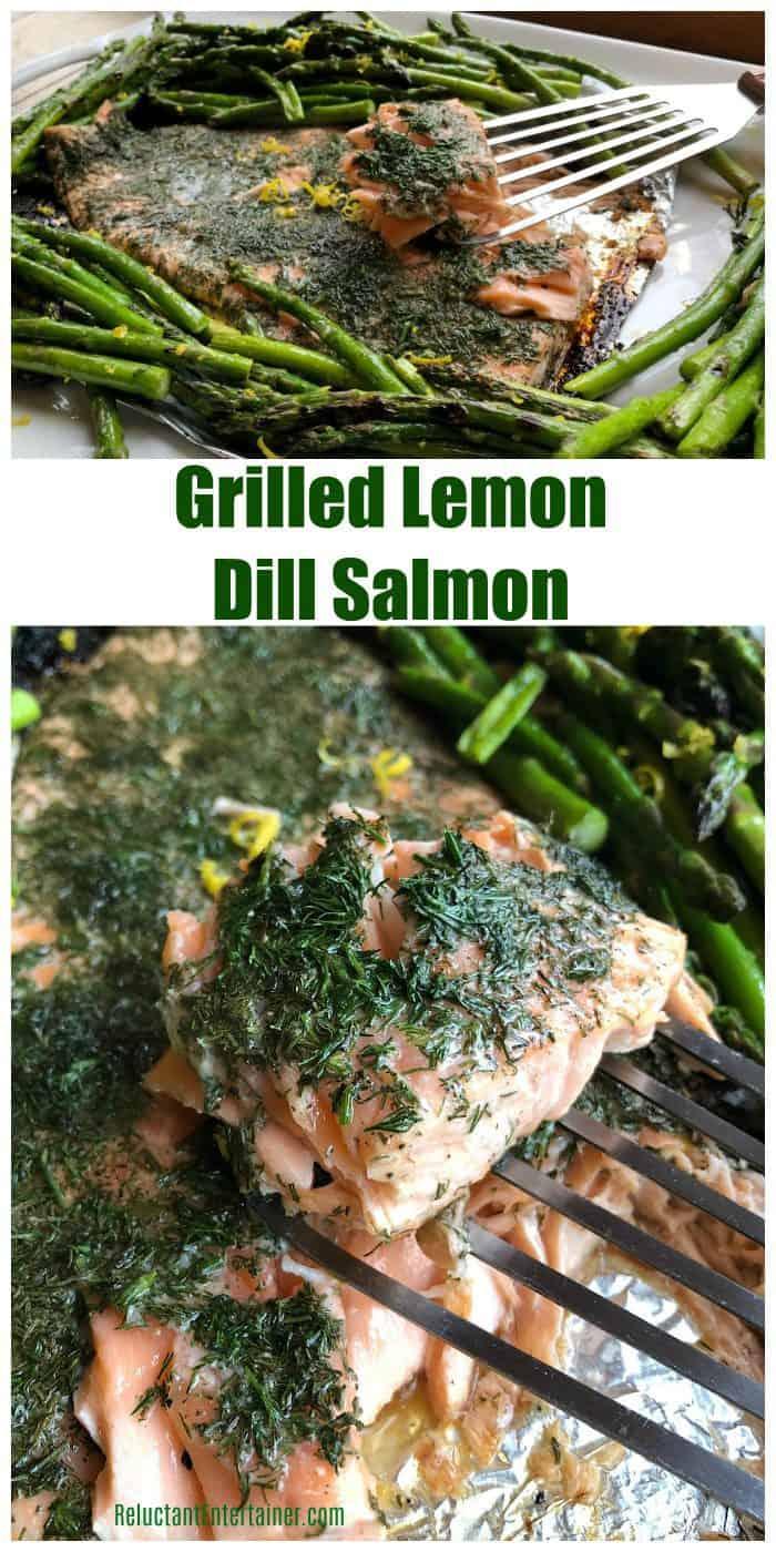 Very BEST Grilled Lemon Dill Salmon recipe