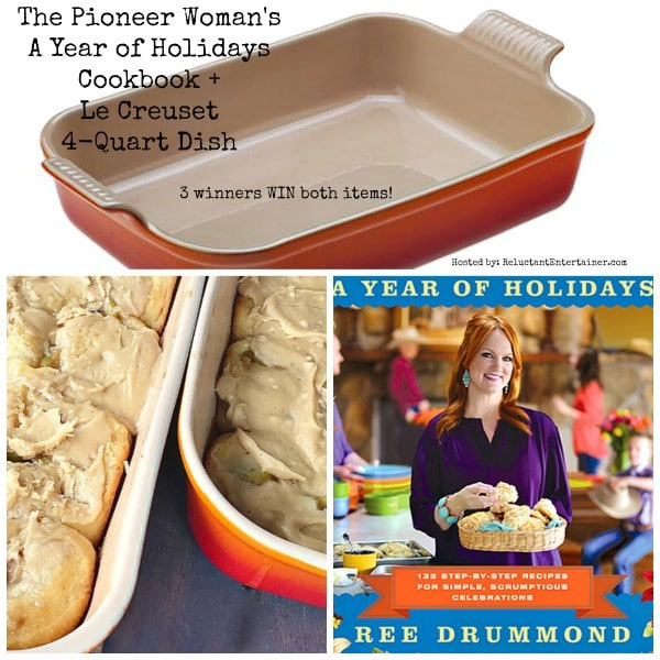 The Pioneer Woman's A Year of Holidays Cookbook + Le Creuset {3 Winners!} Giveaway!