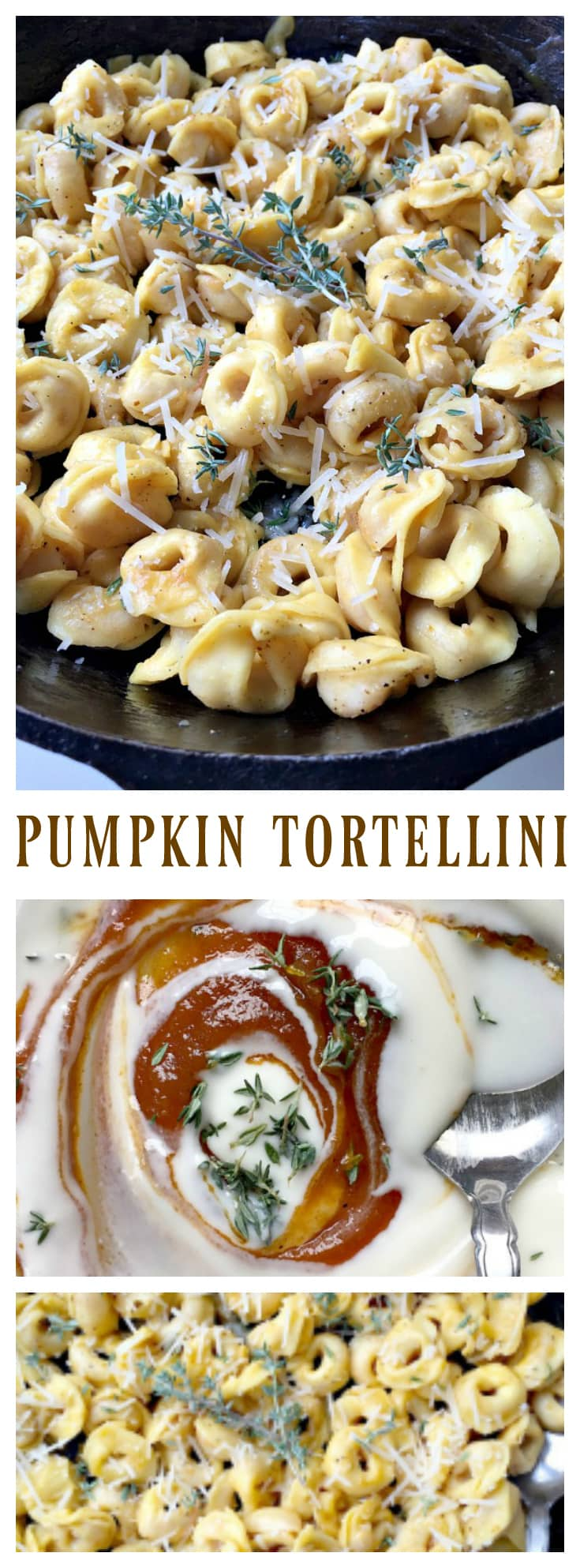 Pumpkin Tortellini for fall time entertaining!