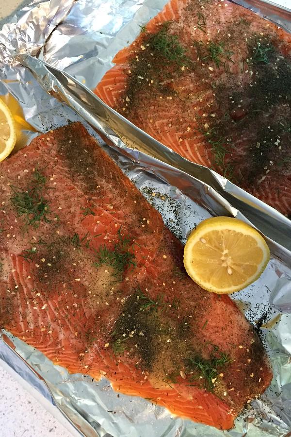 Grilled Lemon Dill Salmon | ReluctantEntertainer.com