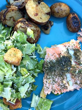 Grilled Lemon Dill Salmon | ReluctantEntertainer.com
