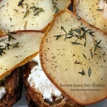 Roasted Honey Pear Crostini | ReluctantEntertainer.com