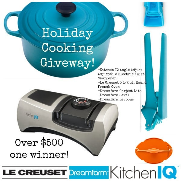 Le Creuset and Dreamfarm and KitchenIQ Giveaway