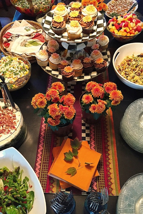 Falling in Love Bridal Shower with Layered Bacon Pea Pasta Salad | ReluctantEntertainer.com