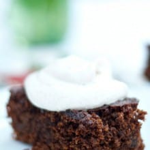 Gingerbread Cake with Spiced Whipped Cream | ReluctantEntertainer.com
