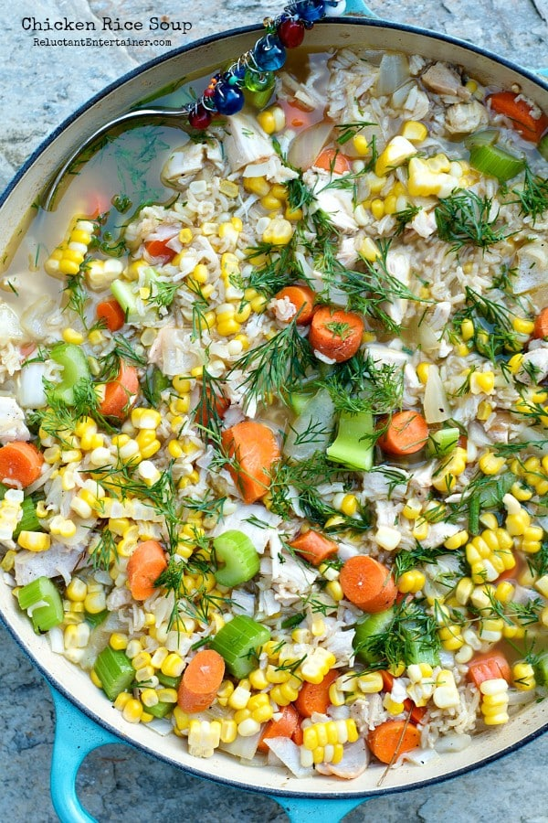 Chicken Rice Soup   ReluctantEntertainer.com
