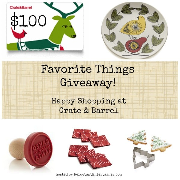 Favorite Holiday Things $100 Crate and Barrel