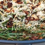 Green Bean Bacon Casserole with Fried Shallots at Reluctant Entertainer