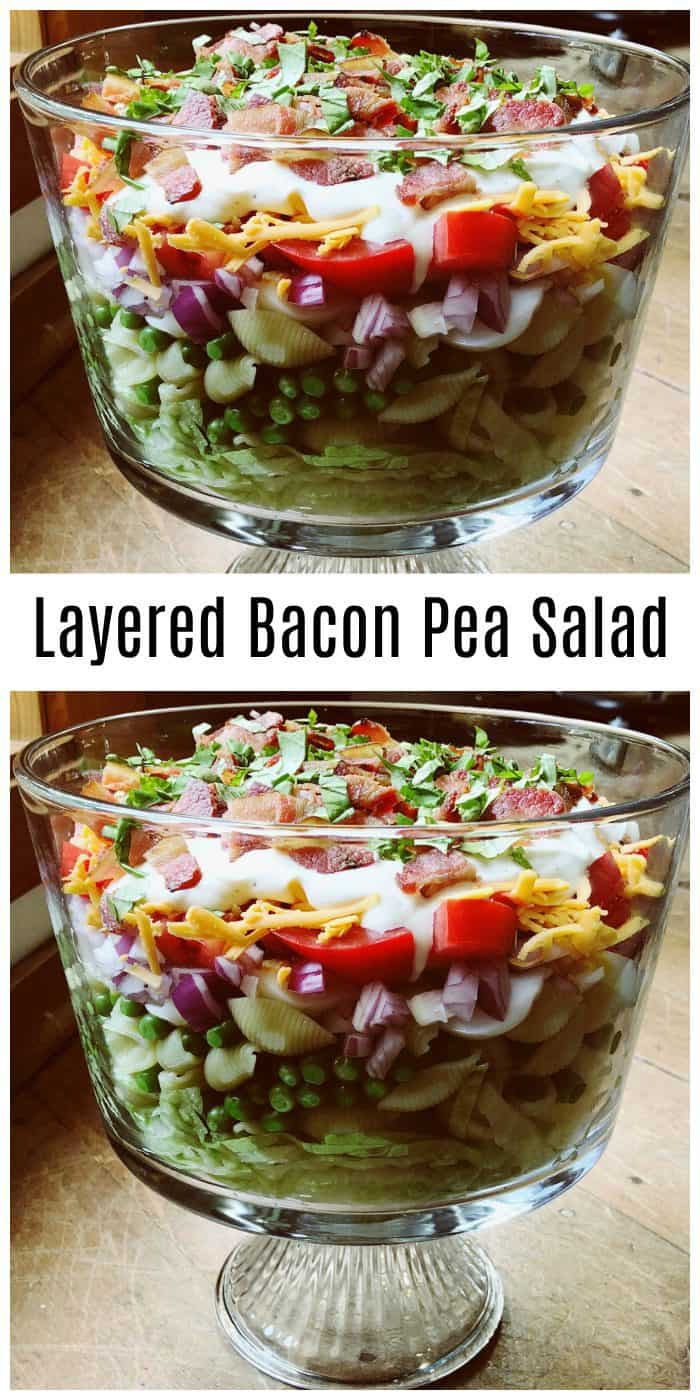 Best Layered Bacon Pea Salad Recipe