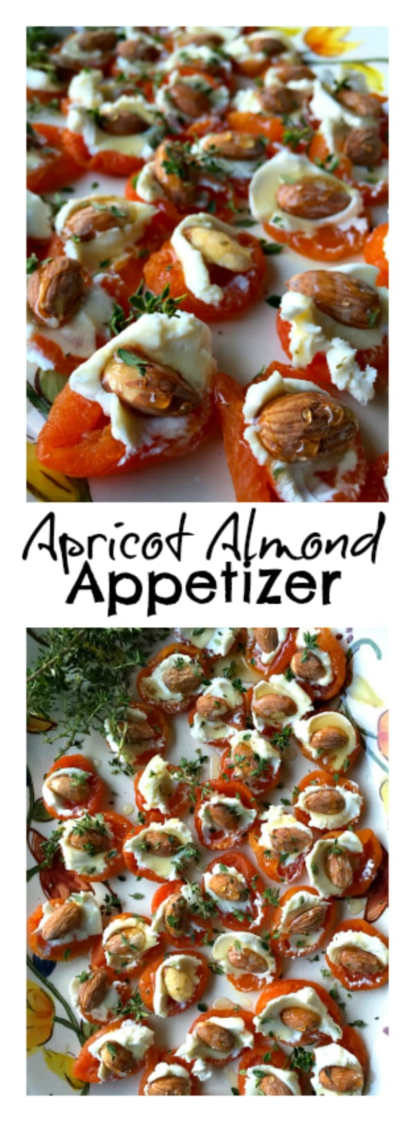 Apricot Almond Appetizer is the perfect lighter appetizer to bring to a party, and an excellent choice for gluten-free guests