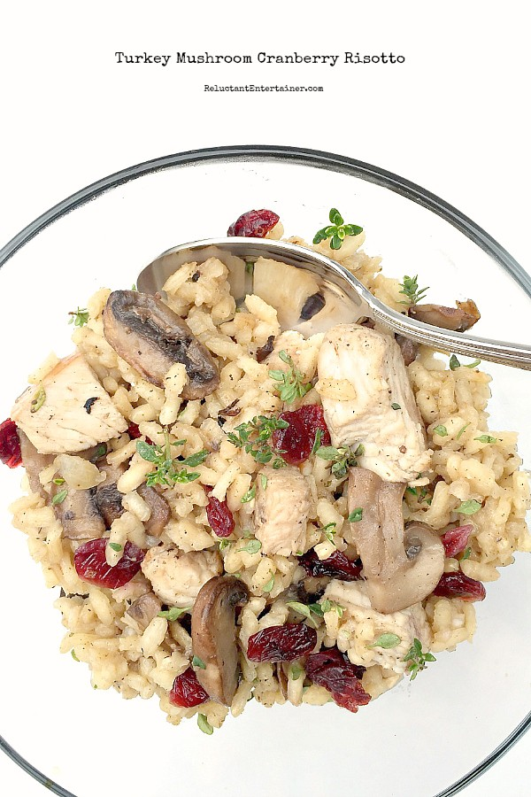 This Turkey Mushroom Cranberry Risotto is perfect for leftover turkey ...