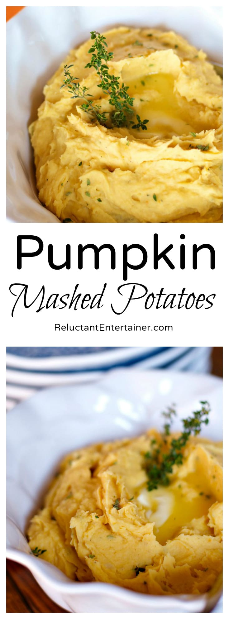 Pumpkin Mashed Potatoes | ReluctantEntertainer.com