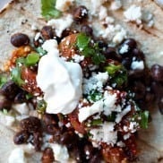 Black Bean Tacos with Roasted Salsa #tacos #tacotuesday #reluctantentertainer #recipe