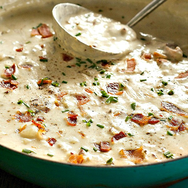 Any time of year, this delicious, creamy soup, Best Clam Chowder, is the perfect dish to serve for a lighter holiday meal.
