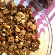 Caramel Nut Chex Mix Recipe | ReluctantEntertainer.com