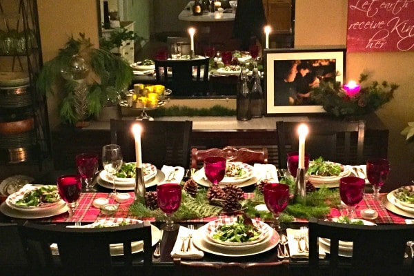 Setting a Holiday Table and Winter Green Salad with Poppyseed Dressing