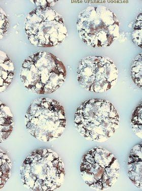 Date Crinkle Cookies
