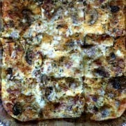 This Make Ahead Breakfast Casserole is a perfect breakfast for the holidays! The secret is to butter the bread before you lay it in the pan!
