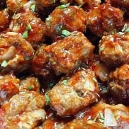 Strawberry Balsamic Glazed Meatballs