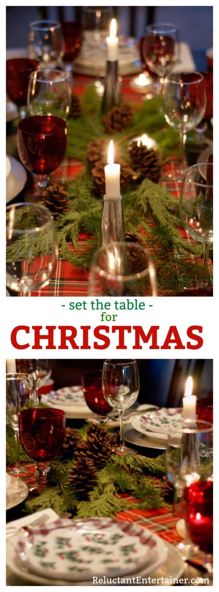 Set the table for Christmas - Orange Cranberry Pinwheels