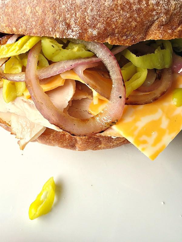 Turkey Pesto Super Sub Sandwiches