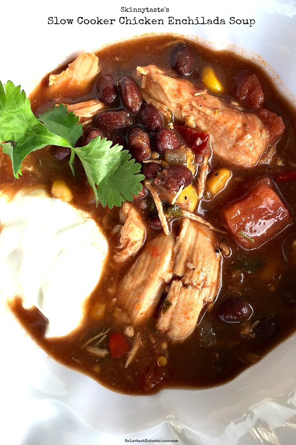 Skinnytaste's Slow Cooker Chicken Enchilada Soup