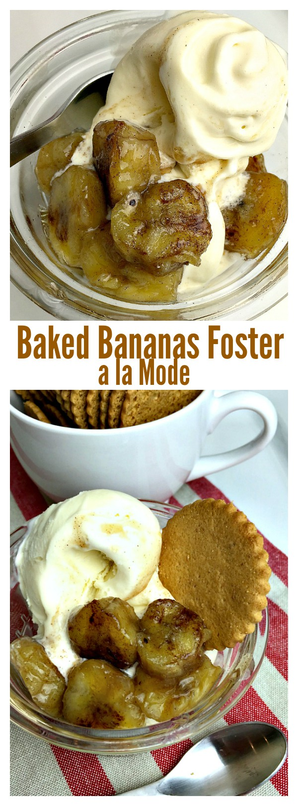 Baked Bananas Foster a la Mode