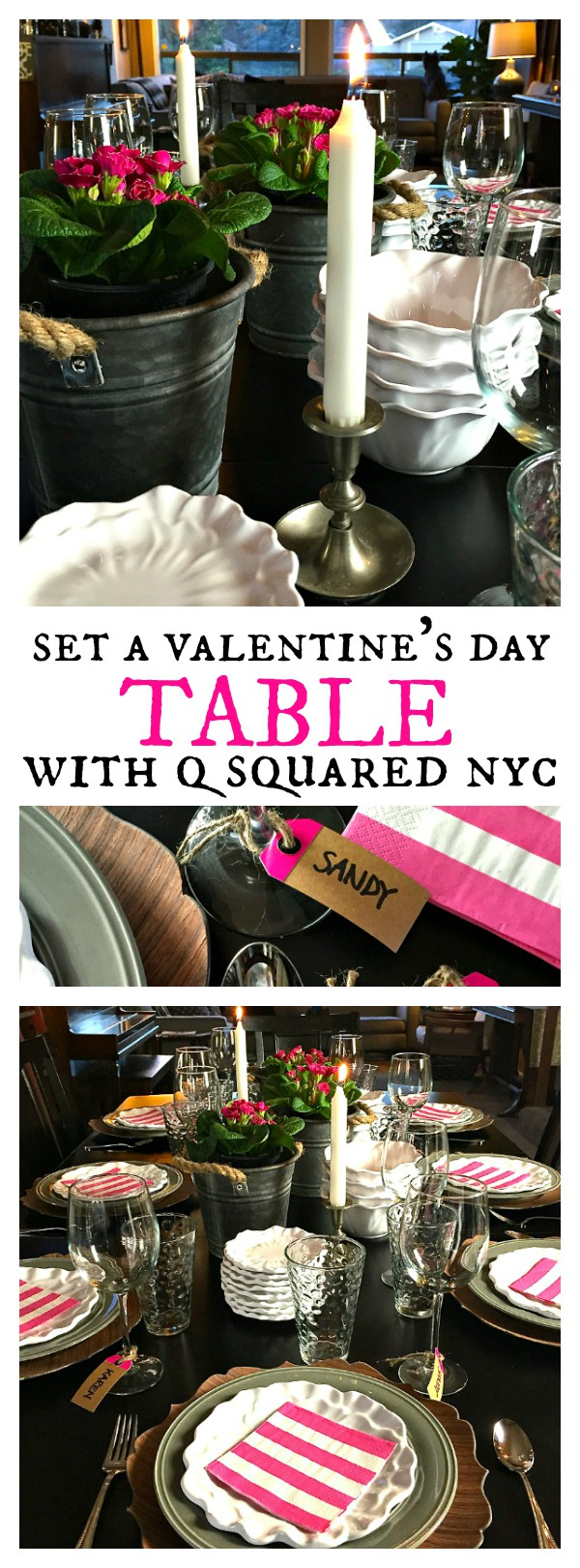 Set a Valentine's Day Table with Q Squared NYC + Chicken Enchilada Soup recipe