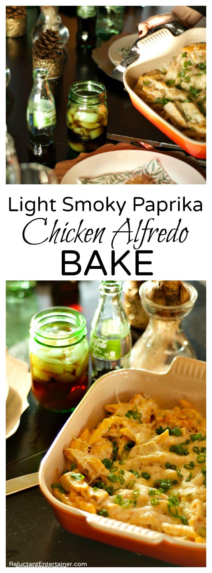 Light Smoky Paprika Chicken Alfredo Bake
