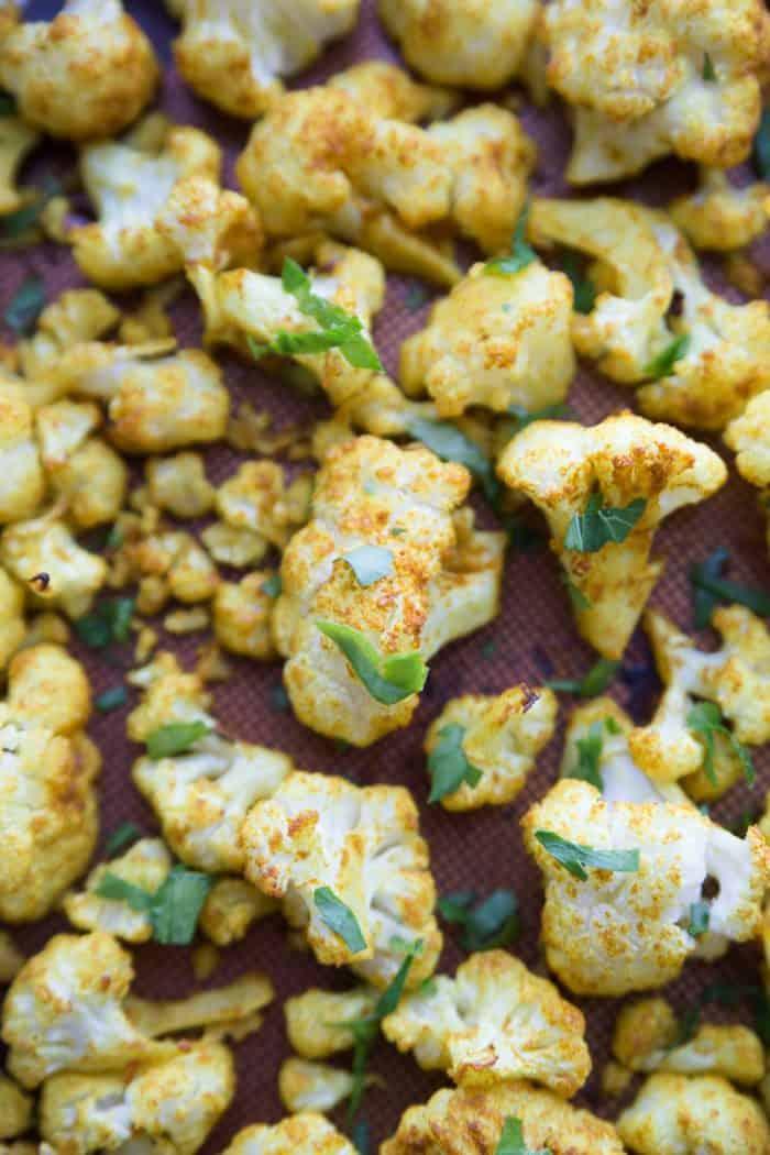 EASY Skinnytaste's Turmeric-Roasted Cauliflower