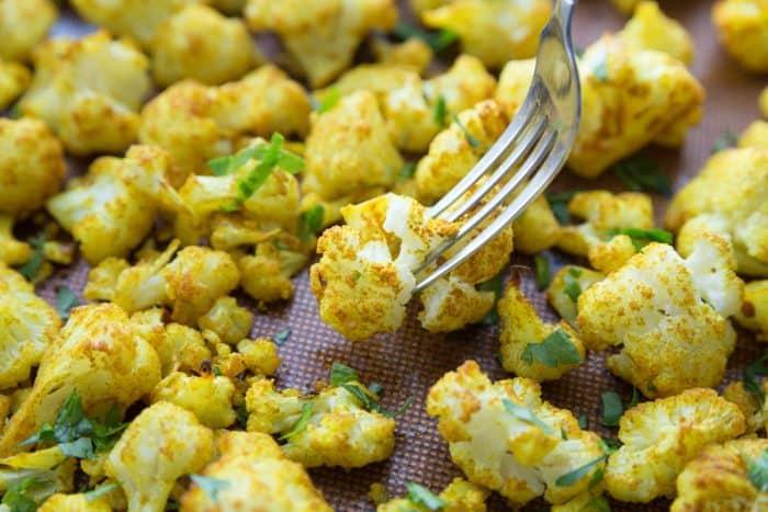 Skinnytaste's Turmeric-Roasted Cauliflower appetizer