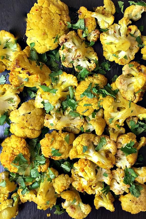 Skinnytaste's Turmeric-Roasted Cauliflower | ReluctantEntertainer.com
