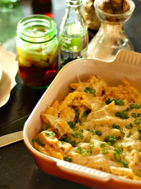 Bucket List Coca-Cola Life Winter Party with Light Smoky Paprika Chicken Alfredo Bake