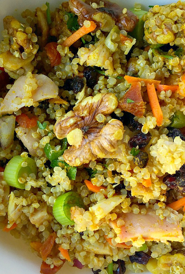 Curry Quinoa Walnut Salad