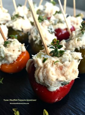 Tuna-Stuffed Peppers Appetizer