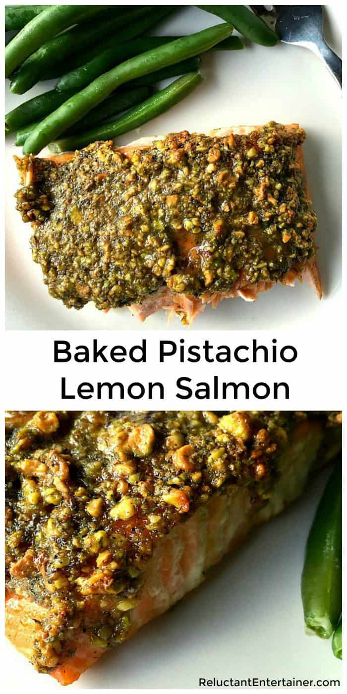Baked Pistachio Lemon Salmon Recipe