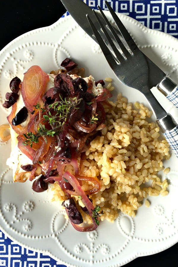 Baked Kalamata Chicken